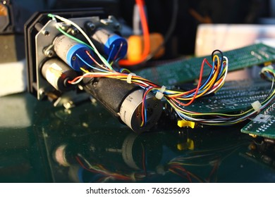 The servos are components of the navigation system and electronics circuit of indicator , indicator of Avionics System ,Navigation system ,Avionics equipment in aircraft with maintenance.