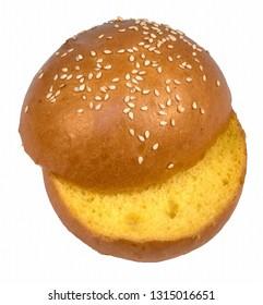 Sesame bun for hamburger cut yellow hot cross bun with sesame seeds