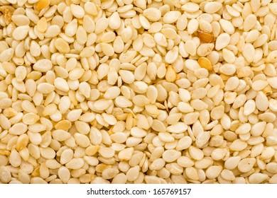 Sesame Seeds Closeup Details Background