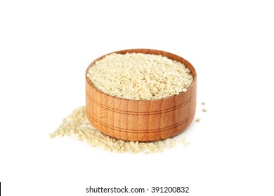 Sesame seeds isolated on a white