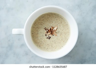 Sesame soup in cup
