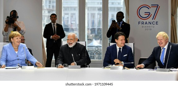 The session on 'Biodiversity, Oceans, Climate', at the G7 Summit, in Biarritz, France on August 26, 2019.