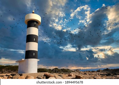 S'estalella lighthouse in southern mallorca (Spain)