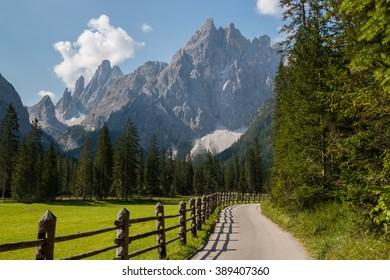 The Sesto Sundial , Fischleintal , Sexten , Pustertal , Bolzano , Trentino Alto Adige , Italy
