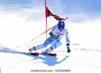 Sestriere, Italy, January 18 2020 vlhova petra (svk) 1th classified during SKI World Cup - Giant Slalom Women Ski