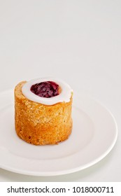 Set for 1. Runeberg's tart or cake is a Finnish traditional dessert and pastry.