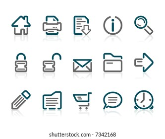 Set of 15 Outline web and internet icons