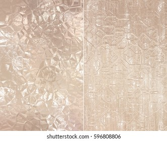 Set 2 of beige abstract backgrounds digital illustration.