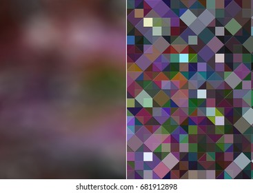 Set 2 of multicolored abstract backgrounds digital illustration.