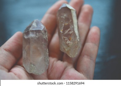 Set of 2 Very Rare Lithium quartz! DT Double Terminated Lithium Quartz with Twin crystal perfect for alters and Grid Work. Very High Vibrations healing reiki crystals