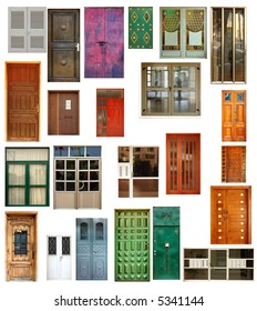set of 23 isolated doors