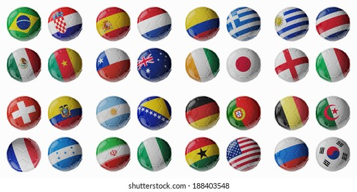 Balls country flag images stock photos vectors shutterstock set of 3d soccer balls with flags freerunsca Image collections