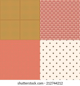 Set of 4 different colorful backgrounds or textures
