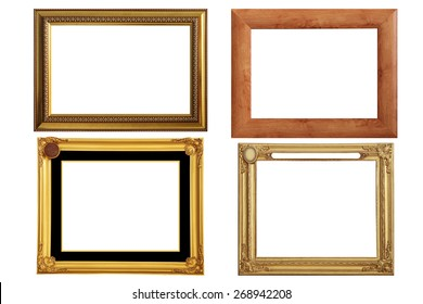 Set of 4 frames over white background