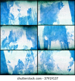 Set of 6 painted grunge texture - Excellent for video grunge backgrounds