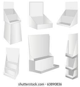 set of 6 white new display.