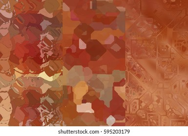 Set of abstractions picture. Three background brown.