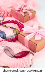 Set accessories for women fashion purchase. Making gifts for the holiday