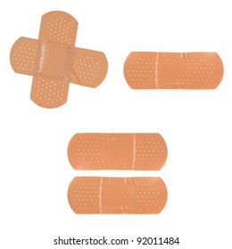 Set of Adhesive first-aid bandages
