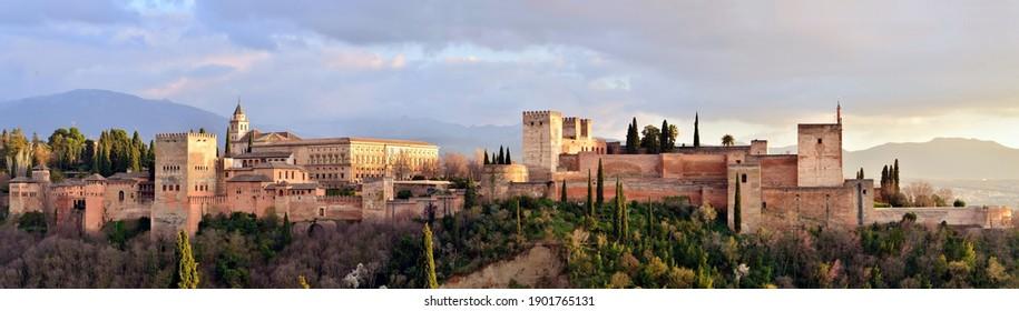 set of the alhambra in granada