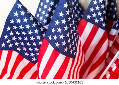 A set of American flags