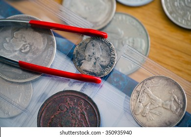set of ancient silver coins