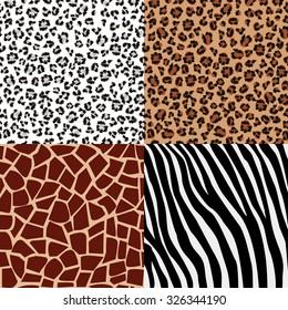 Set of animals skin patterns