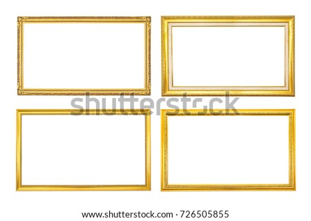 Set Antique Golden Frame Isolated On Stock Photo (Edit Now ...