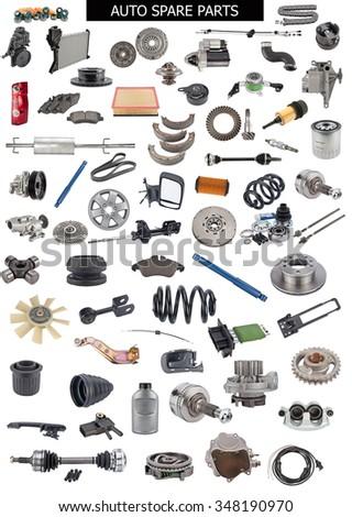 Set Auto Spare Parts Car Shop Stock Photo Edit Now - Carshop