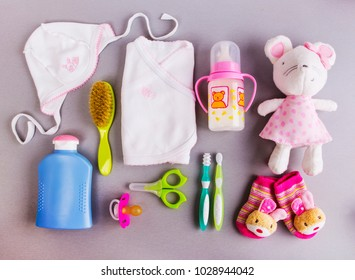 Set of baby accessories