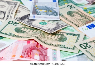 set of banknote background