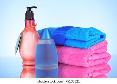 A set of bath cosmetics