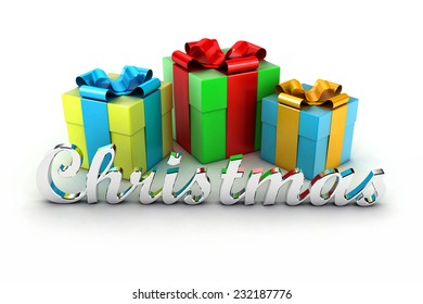 Set of beautiful gifts for a good holiday