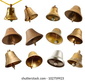 Set of bells isolated on white background