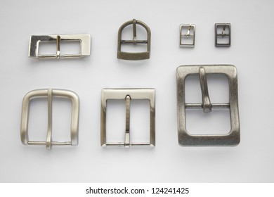 Set of belt buckles isolated