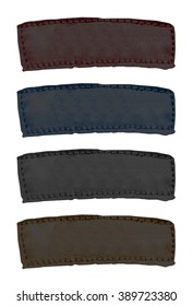 set of blank fabric labels of different colors. Useful for Your text