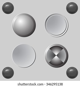 Set of blank grey buttons for website or app.