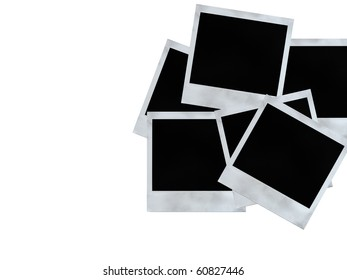 Set of blank images on a white background