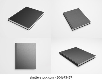 Set of blank textbooks