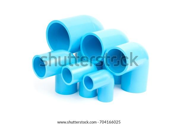 Set Blue Pvc Pipe Fittings 90 Stock Photo (Edit Now) 704166025