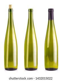 Set  of  bottles  for  wine isolated on white background