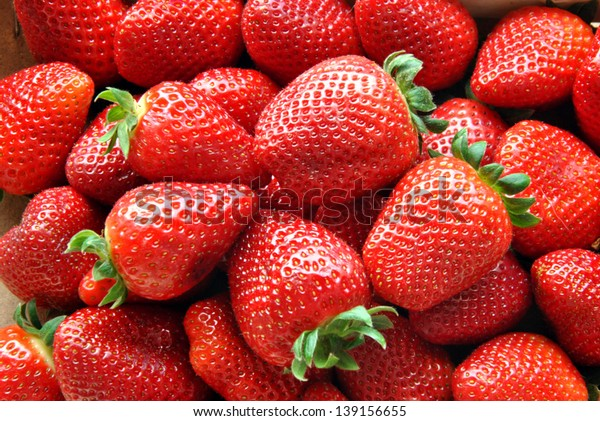 set in a box of strawberries before eating