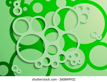Set of Bright Abstract Circles Frames Design Elements, cosmetics, soap, shampoo, perfume, medical, label background illustration
