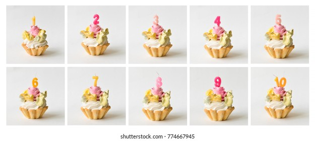 set of cakes with figures for birthday, smash cake, decor
