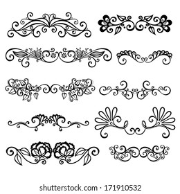 Set: Calligraphic Borders and Page Decoration