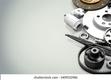 Set of  Car parts on background