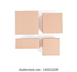Set of cardboard boxes for packaging on a white background