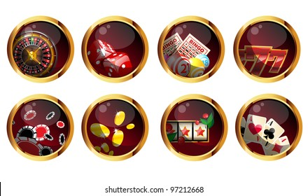 set of casino elements.