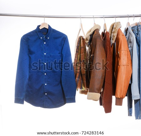 c816b937356 Set Casual Mens Clothes Shirts Suit Stock Photo (Edit Now) 724283146 ...