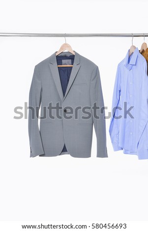 3988a851db7 Set Casual Mens Suit Clothes Shirt Stock Photo (Edit Now) 580456693 ...